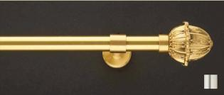WinarT USA 8.1154.30.04.160 Liber 1154 Curtain Rod Set - 1.25 in. - Polished Brass - 63 in.