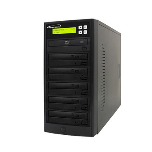 Vinpower Digital Econ-S5T-DVD-BK Econ Series 1 to 5 Target DVD CD Disc Duplicator Tower