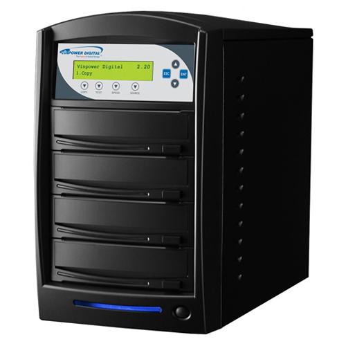 Vinpower Digital SharkNet-3T-DVD-BK SharkCopier 1 to 3 Target Network DVD CD Disc Duplicator Tower with 320GB Hard Drive VNPWR208