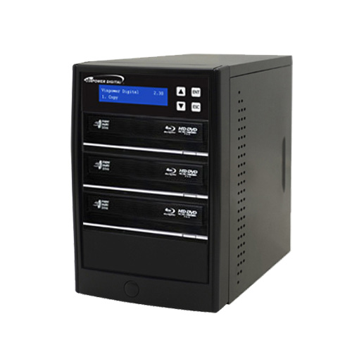 Vinpower Digital Econ-S3T-BD-BK Econ Series 3 Target Blu-ray DVD CD Disc Duplicator Tower with 500GB Hard Drive USB 3.0 VNPWR218