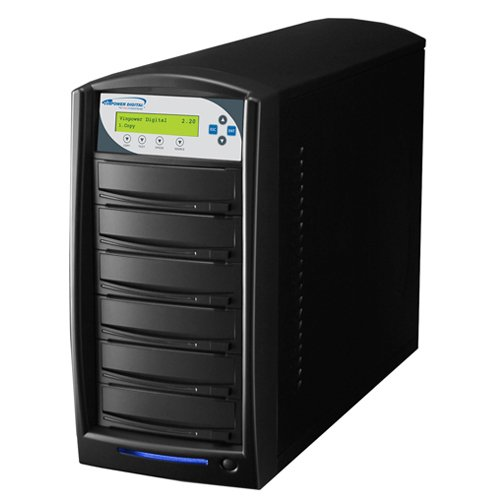 Vinpower Digital SharkNet-5T-DVD-BK SharkCopier 1 to 5 Target Network DVD CD Disc Duplicator Tower with 320GB Hard Drive VNPWR220