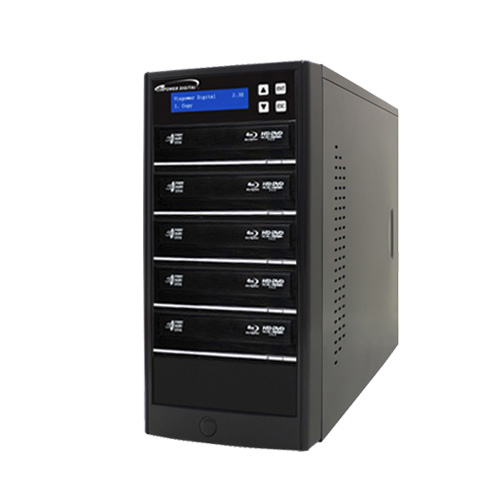 Vinpower Digital Econ-S5T-BD-BK Econ Series 5 Target Blu-ray DVD CD Disc Duplicator Tower with 500GB Hard Drive USB 3.0 VNPWR237