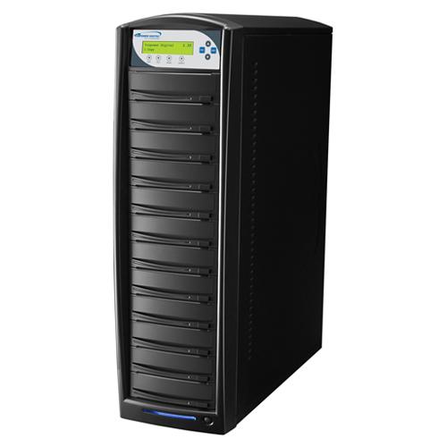 Vinpower Digital SharkNet-11T-DVD-BK SharkCopier 1 to 11 Target Network DVD CD Disc Duplicator Tower with 320GB Hard Drive VNPWR242