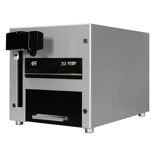 Vinpower Digital CUB25-S1T-BD The Cube 1 Target Robotic Automatic Blu-ray DVD CD Disc Duplicator Tower 25 Disc Capacity with 500GB Hard Drive VNPWR244