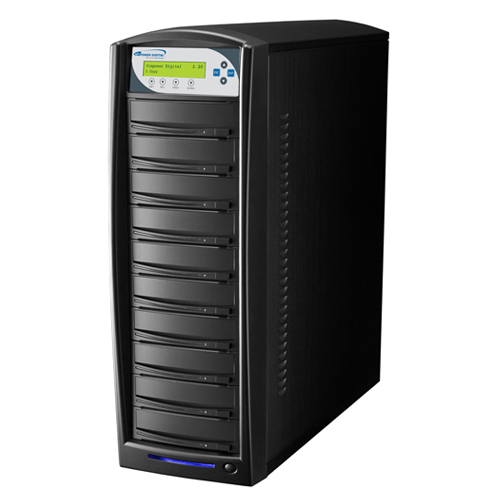 Vinpower Digital SharkBlu-S10T-DC-BK SharkBlu HDD to 10 Target Daisy Chain Blu-ray DVD CD Disc Duplicator Tower with 500GB Hard Drive VNPWR270