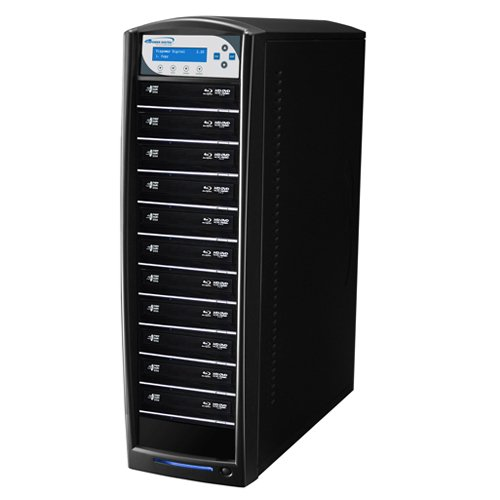 Vinpower Digital SharkBlu-S11T-XL-BK SharkBlu HDD to 11 Target BDXL Blu-ray DVD CD Disc Duplicator Tower with 500GB Hard Drive VNPWR283