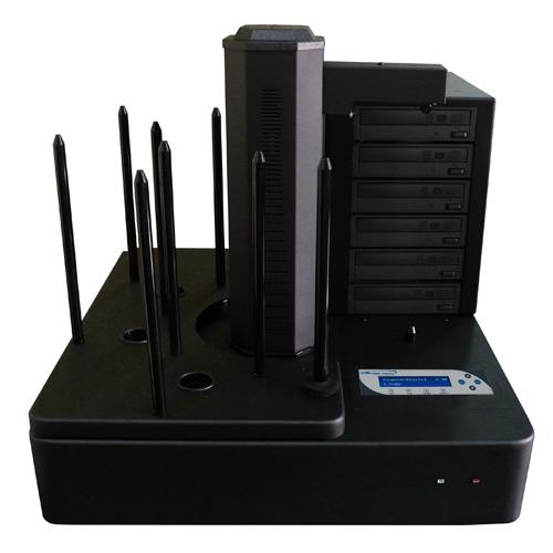 Vinpower Digital AERO660-S6T-BK Aero 6 Target Robotic Automatic DVD CD Disc Duplicator Tower 660 Disc Capacity and 500GB Hard Drive