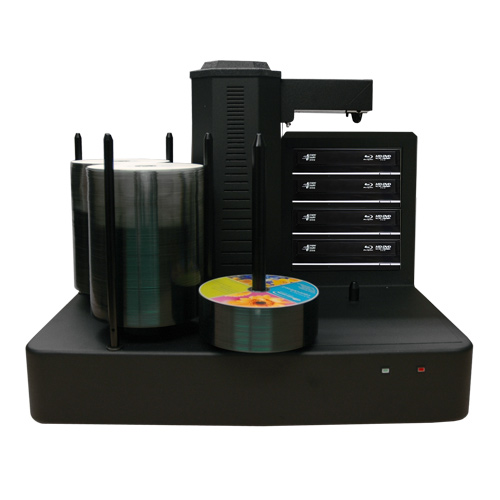 Vinpower Digital CRONUS500-BD-S4T-NP-BK Cronus 4 Target Robotic Automatic Blu-ray DVD CD Disc Ripping Station Duplicator 500 Disc Capacity - No Printer VNPWR311