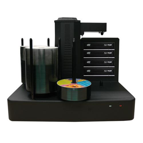 Vinpower Digital CRONUS500-BD-S4T-NP-PLUS-BK Cronus PLUS 4 Target Robotic Automatic Blu-ray DVD CD Disc Ripping Station Duplicator 500 Disc Capacity - No Printer VNPWR316