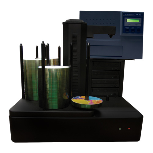 Vinpower Digital CRONUS500-S4T-P55-BK Cronus 4 Target Robotic Automatic DVD CD Disc TEAC P55 Thermal Printer Publishing System 500 Disc Capacity