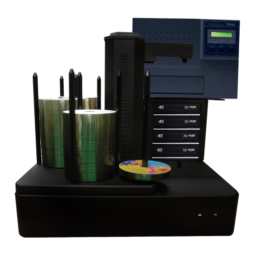Vinpower Digital CRONUS500-BD-S4T-P55-BK Cronus 4 Target Robotic Automatic Blu-ray DVD CD Disc TEAC P55 Thermal Printer Publishing System 500 Disc Capacity