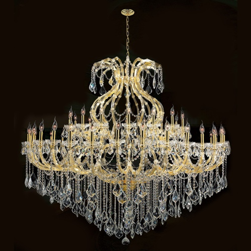 Worldwide Lighting W83001G72 Maria Theresa Collection 49 Light Gold Finish with Clear Crystal Chandelier
