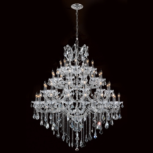 Worldwide Lighting W83002C46 Maria Theresa Collection 44 Light Chrome Finish with Double Cut Crystal Chandelier