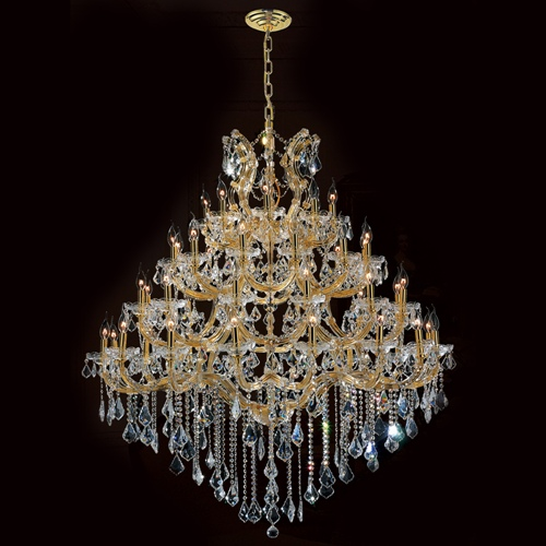 Worldwide Lighting W83002G46 Maria Theresa Collection 44 Light Gold Finish with Double Cut Crystal Chandelier