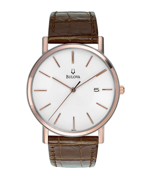 Brown Leather Mens Watch 98H51