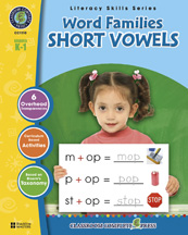 Classroom Complete Press CC1110 Word Families - Short Vowels