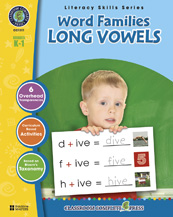 Classroom Complete Press CC1111 Word Families - Long Vowels