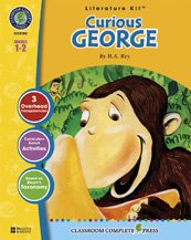 Classroom Complete Press CC2100 Curious George - Literature Kit