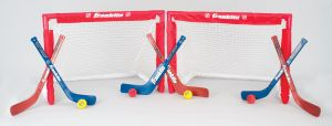 Franklin Sports 12456P1 NHL Folding Insta-Set 2-Goal Combo Stick & Ball Se