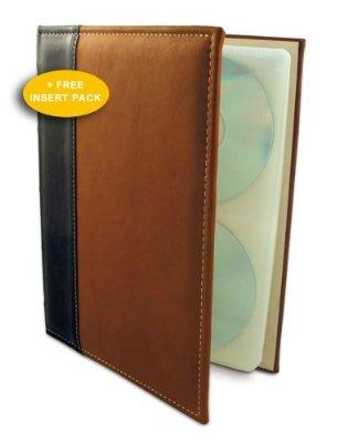 HandStands 02033GP Brown CD-DVD-Blu-Ray Binder plus Insert P