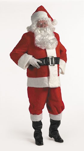 Halco 599 10 Piece Complete Santa Suit- Size 42-48 jacket up to 52 waist