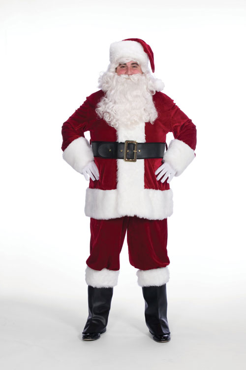 Halco 799 10 Piece Complete Velveteen Santa Suit- Size 42-48 jacket up to 52 waist