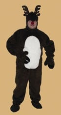 Halco 1292 Reindeer Suit with Hood- Size Adult Medium