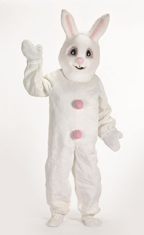 Halco 1093-H White Bunny Suit with Mascot Head- Size Adult Large