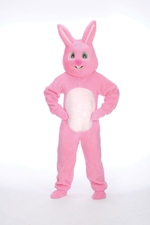 Halco 1093-HP Pink Bunny Suit with Mascot Head- Size Adult Large