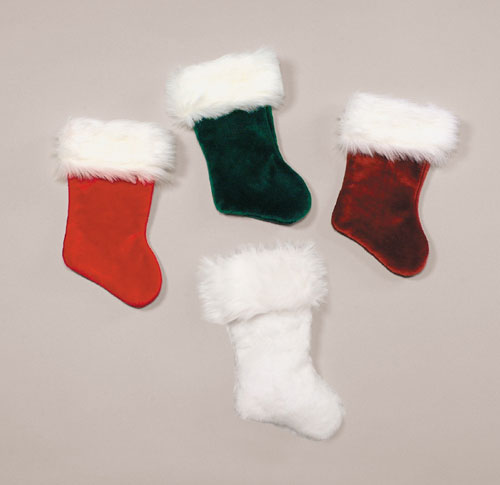 Halco 3221-W White Velvet Plush Stocking- Size 21 inch