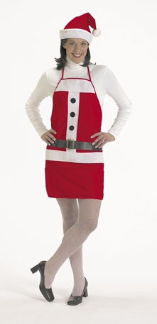 Halco 7060 Holiday Apron & Hat- One size fits most