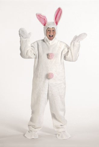 Halco 1091 White Bunny Suit with Hood- Size Child s 6-8