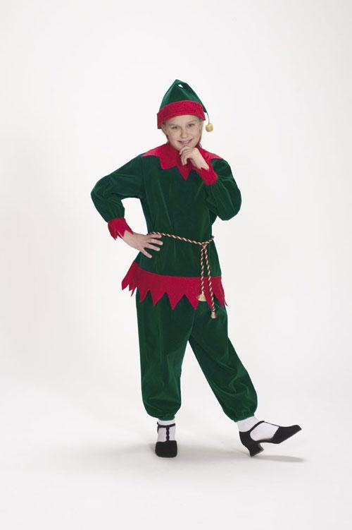 Halco 1197 Velvet Elf Suit- Size Child 4-8