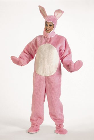 Halco 1091-P Pink Bunny Suit with Hood- Size Child s 6-8