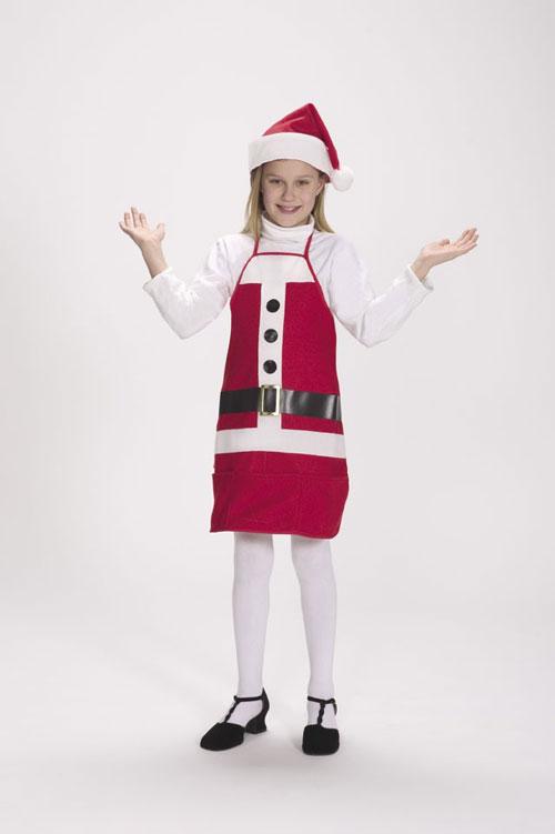 Halco 7060-C Holiday Apron & Hat- Size Child 4-12