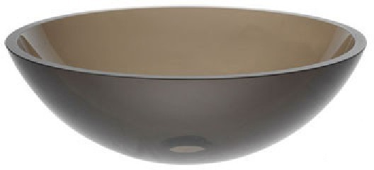 Kraus GV-103-14 Brown Clear 14 inch Glass sink