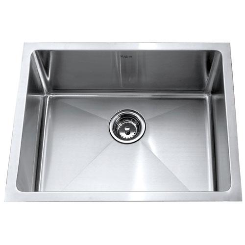 Kraus KHU101-23 Single Bowl under Mount Kitchen Sink