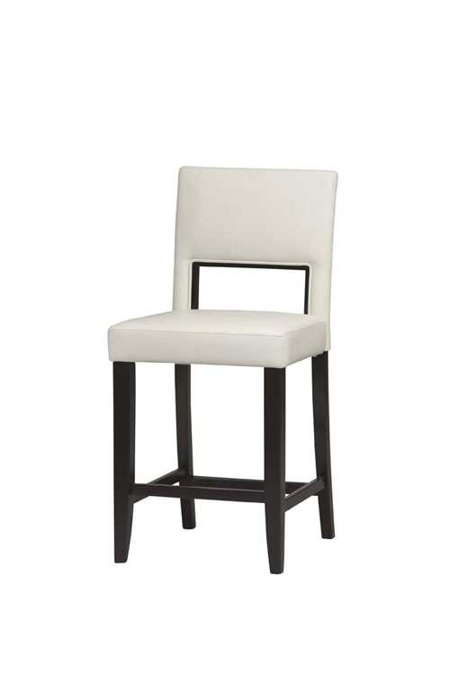 Linon 14053WHT-01-KD-U Vega Counter Stool 24inch -Espresso Frame Finish