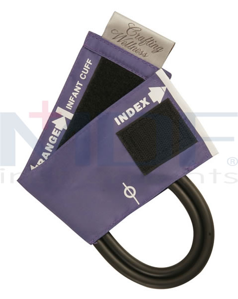 MDF Instruments MDF202041104 Latex-Free Replacement Blood Pressure Cuff - Infant - Single Tube -Navy Blue