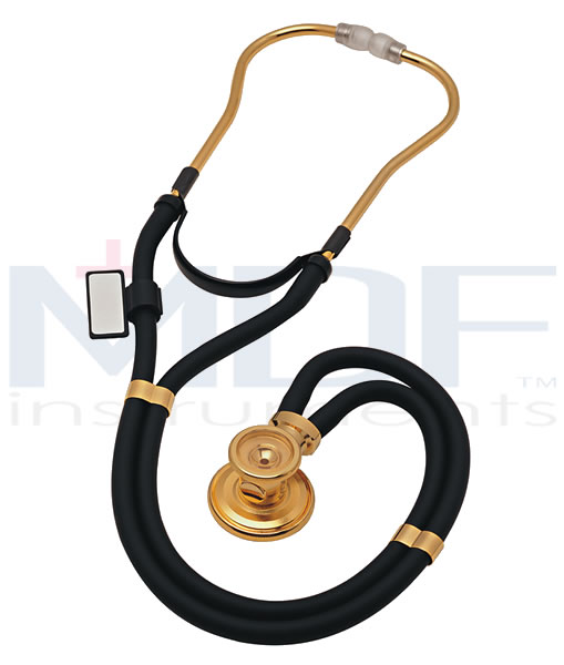 MDF Instruments MDF767K11 22k Gold Sprague Rappaport Stethoscope -Black