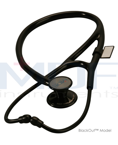 MDF Instruments MDF797DDBO ER Premier Stethoscope All Black Adult Pediatric