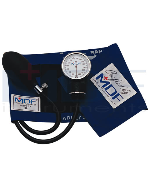 MDF Instruments MDF808BBO Professional Aneroid Sphygmomanometer -All Black -Adult