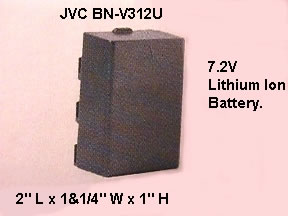 Jvc BN-V312U Original Jvc High Capacity Battery