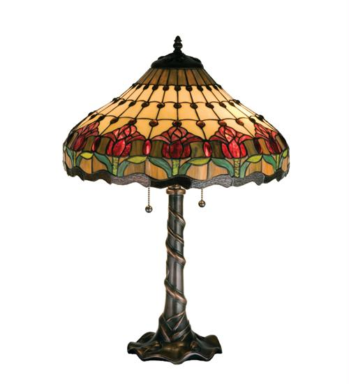 Meyda 99270 25.5 Inch H Colonial Tulip Table Lamp