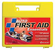 137 Piece Auto First Aid Kit - Large Plastic Case - 1 Ea.