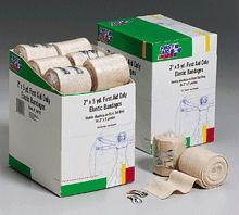 2 In. x 5 Yd. First Aid Only Elastic  - Ace  - Bandage - Latex Free with Two Fasteners - 18 Per Dispenser Box