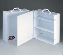 3 Shelf Industrial Cabinet - Empty Metal Case with Swing Out Door - 1 Ea.