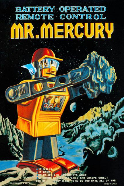 Battery Operated Remote Control Mr. Mercury 20x30 Poster