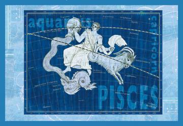 Capricorn and Aquarius No.2 20x30 Poster