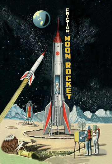 Friction Moon Rocket 20x30 Poster